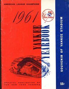 1961 New York Yankees Yearbook EX