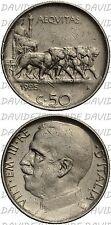 02826] REGNO ITALIA - VITTORIO EMANUELE III - 50 CENTESIMI LEONI 1925 C/ RIGATO