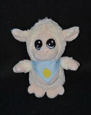 Peluche doudou mouton blanc crème PEEKO bandana bleu oeuf jaune 17 cm TTBE