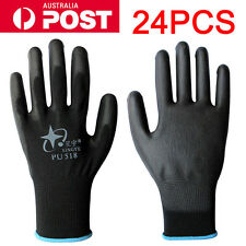 24PCS Antistatic Nylon Gloves Work Safety Working Mechanic Gloves Garden Builder
