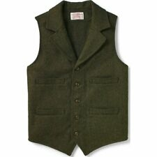 Filson Western Vest Forest Green 100% Mackinaw Wool, Men's 2XL NWT MSRP $195