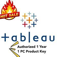 Tableau Desktop Professional 2020 Edition & Tableau Prep 1 Year 1 PC License Key