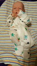 "LITTLE GUY BABY BOY FIRST YAWN REBORN BOY DOLL 14"" Preemie boy W PACI BOTTLE NEW"