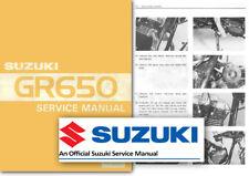 Suzuki GR650 Tempter Workshop Service Shop Manual GR650X GR 650