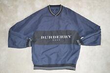 Burberry Golf Navy Blue Oversized Polyester Jumper Sweatshirt Pullover Mens S