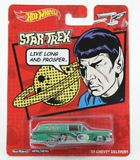Hot Wheels Star Trek 2013 Spock 1959 Chevy Delivery Real Riders 1023T