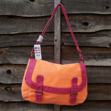 Claire's canvas orange shoulder bag messenger