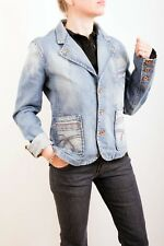 Phard Basic Jeans Three Pocket Button Front Semi Fitted Denim Jacket (M) UK12