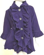 MACK & CO Girls Double Ruffle COAT Toddler DRESSY Purple | Age 2 Years