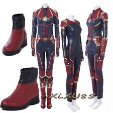 2018 Movie Ms.Marvel Captain Marvel Carol Cosplay Costume Halloween Custom Made