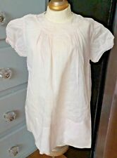 SWEET! Antique PALE Pink Tagged HANDMADE FELTMAN BROS Baby Toddler DOLL DRESS