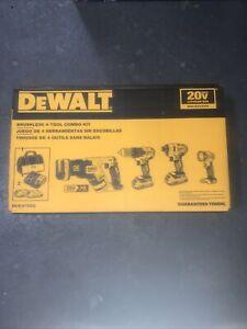 Genuine DEWALT DCK476D2 20V MAX XR Brushless 4-Tool Compact Combo Kit New