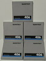 "Lot  of 5 Quantegy 406 Mastering Audio Tape 5"" Reel"