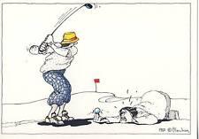 CARTE POSTALE ILLUSTRATEUR / RENE BLACHON 1982 / GOLF