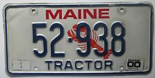 Maine 2000 LOBSTER GRAPHIC TRACTOR License Plate # 52-938