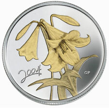 Easter Lily - 2004 Canada Sterling Silver 50 Cent Coin