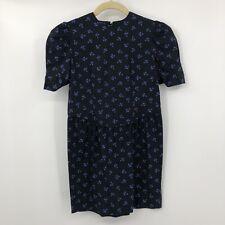 New listing Vintage Grandchildren Dress Black Blue Fleur De Lis 90's Sz 10 Girls
