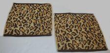 2 Ralph Lauren Venetian Court Leopard Washcloths Set New Rare