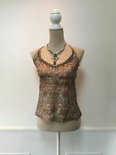 NOA NOA Ladies pink / green print halter neck top - small