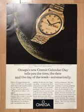 Omega Seamaster 18ct 1969 Advertisement Pub Ad Werbung