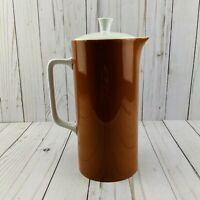 VTG Harmony House MCM IRON STONE Orange Brown Coffee Tea Pot Tierra #4251 Japan