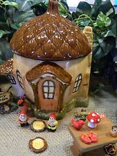 Acorn Fairy House   Ceramic Glazed miniature garden Gnome  home  Miniature