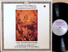 L'OISEAU-LYRE Gabrieli TAVERNER CHOIR Symphoniae Sacrae II DSLO-537 NM