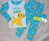 pyjama  coton disney neuf etiqueté roi lion simba taille 24 mois bleu gris