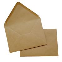 Kraft Fleck Envelopes, Brown, - C7 C6 C5 DL 130 155 164 Square + More Sizes