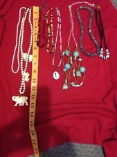 8 Beaded Type Necklaces includes a brand 1928 red beaded NO RESERVE