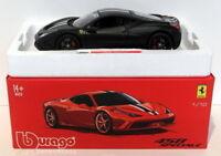 Burago 1/18 Scale Diecast 18-16903B - Ferrari 458 Speciale - Black