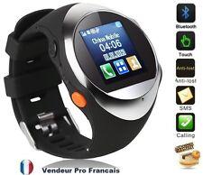 Montre Téléphone GPS TrackWatch Montre MP3 MP4 affichage numérique MQ88L Argent