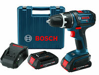 "Bosch DDS180-02-RT 18V Compact Tough 1/2"" Drill/Driver Kit w/Factory Warranty"