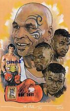 MIKE TYSON  HALL OF FAME POST CARD SET OF 12