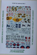Xtradecal 1/72 X72097 English Electric Lightning F.3 Decal set