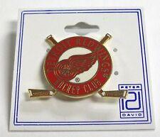 DETROIT RED WINGS NHL HOCKEY STICK CIRCLE PIN BY PETER DAVID FREE SHIPPING