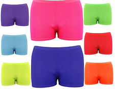 New Children Kids Neon Lycra Stretchy Hot Pants Shorts-Dancing Shorts-Party Wear