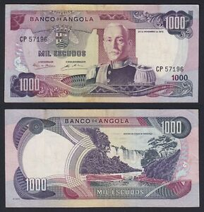 Angola 1000 Escudos 1972 BB VF+ C-09