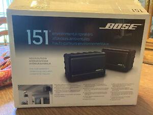 Bose 151 Black Pair Indoor/Outdoor Invironmental Speakers