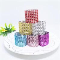 20x Napkin Ring Fashion Decorative Handmade Diamond Buckle Holder for Wedding H