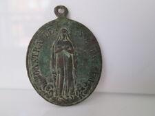 Medalla bronce. Asociación de las Hijas de María. Relieve. Siglo XIX. España