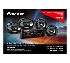 """Pioneer Bluetooth Car Stereo Receiver Bundle with Two 6.5"""" Speakers, Two 6"""" x 9"""""""