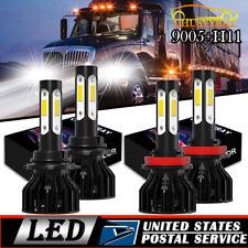 For Kenworth T680 T880 2013-2019 -4PC LED Headlight Kit Bulbs High / Low Beam K9
