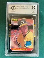 1987 LEAF / DONRUSS MARK MCGWIRE RATED ROOKIE BCCG GRADED MINT 10