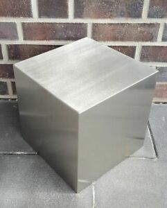 DekorationsQuader Würfel 20x20x20 cm Edelstahl matt gebürstet Dekoquader