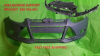 2012 2013 2014 FORD FOCUS FRONT BUMPER PRIMED READY FOR PAINT FREE SUPPORT