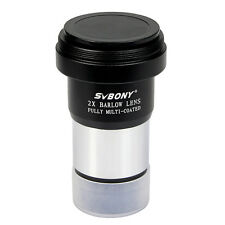 """New 1.25"""" (31.7mm)  2X Barlow Lens Telescope Eyepiece Astronomy/T Adapter Hot US"""