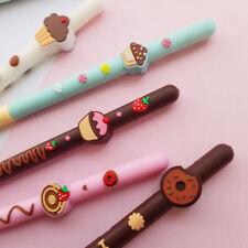 1pc 0.5mm Cakes Gel Pen Kawaii Students Stationery Black Ink Pens Kids Gift Hot