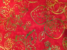 Moda Fabric~Eat Your Fruits n' Veggies~Red Strawberries Batik By The 1/2 Yard