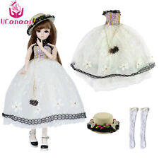 Newest Dress Set With Hat For 1/3 Girl BJD Doll Clothing DIY Dressup Accessories
